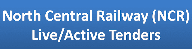 North Central Railway (NCR) Live/Active Tenders