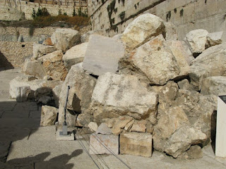 Large blocks of stone thrown down by the Romans
