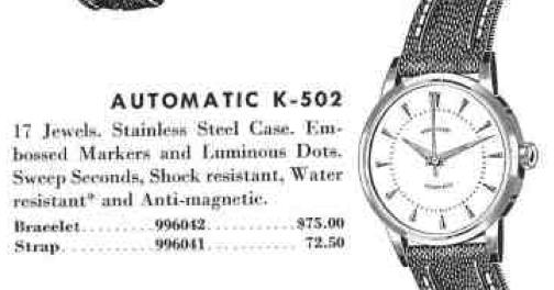 Vintage Hamilton Watch Restoration: 1954 Automatic K-502