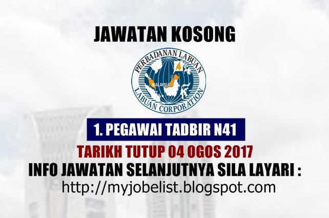 Jawatan Kosong Terkini di Perbadanan Labuan (PL) - 04 Ogos 2017