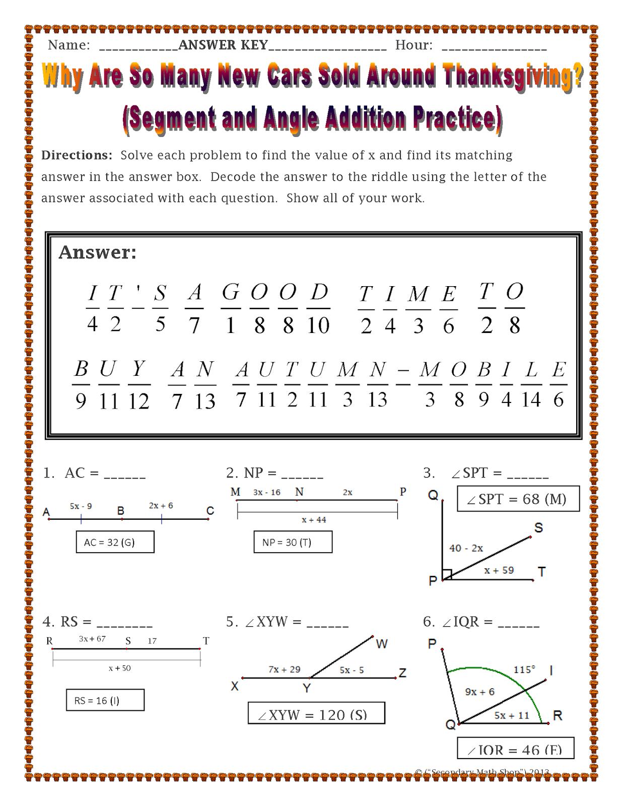 5 Riddle Math Worksheet Answers - Worksheet Resource Plans
