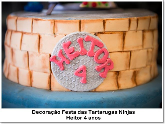 Decoração Festa das Tartarugas Ninjas - Heitor 4 anos