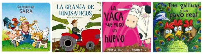 selección libros infantiles y cuentos sobre la granja