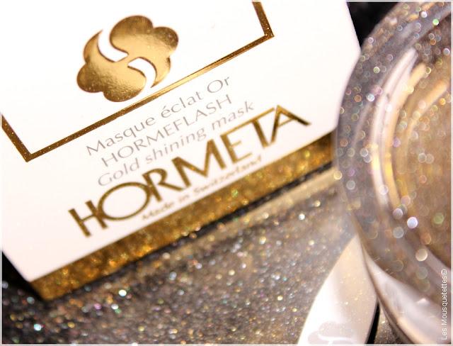 Masque Éclat Or Hormeflash Hormeta - Blog beauté Les Mousquetettes©