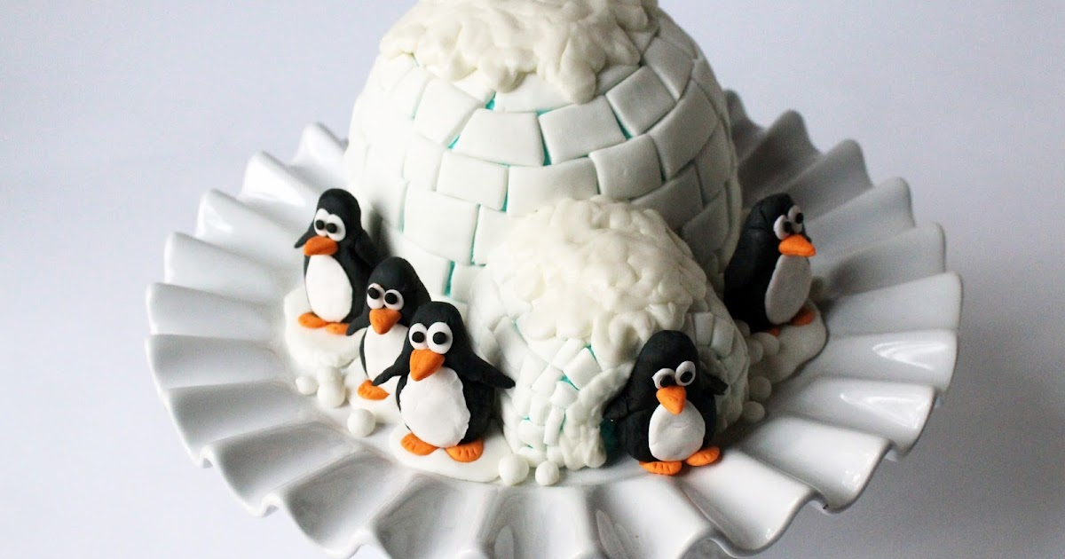 Worth Pinning Igloo Cake With Gum Paste Penguins