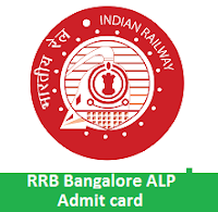 RRB Bangalore ALP Admit card