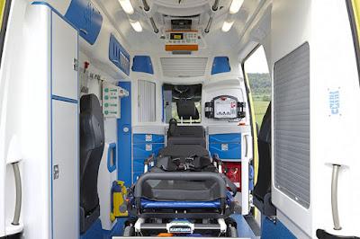 Ambulance Delfis, intérieur