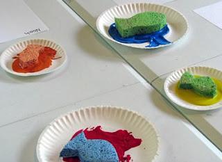 Sponge Painting school paintng