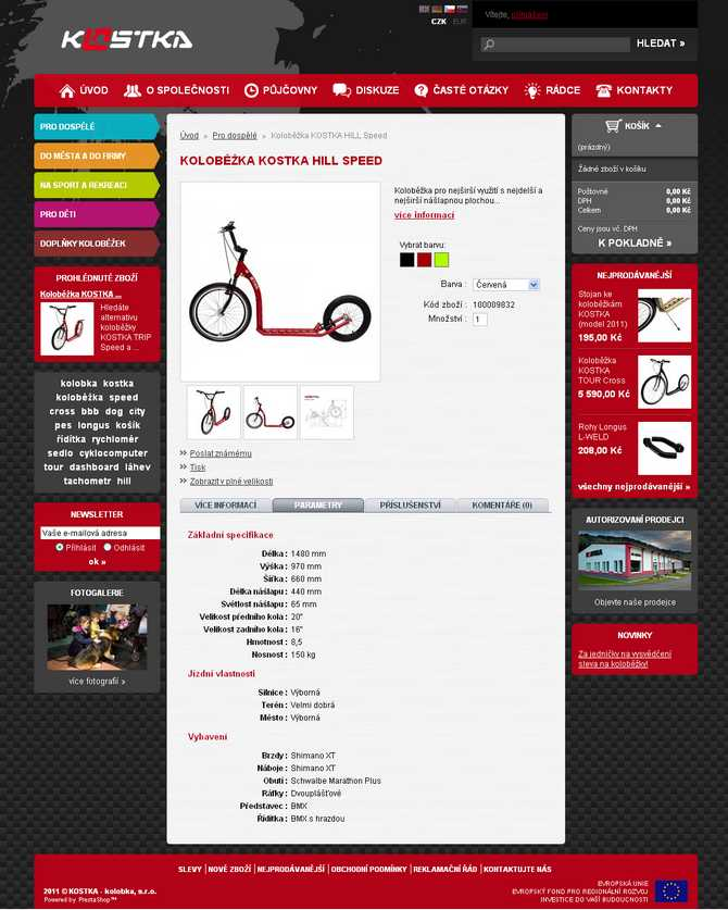 page de la trottinette KOSTKA Hill Speed