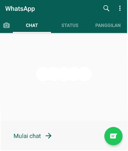 Jendela Chat Awal WhatsApp