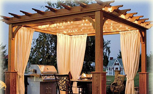 Pergola With Curtains - Pergola With Curtains - Curtains & Drapes