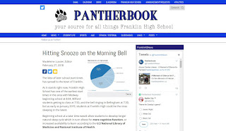 "Pantherbook: ""Hitting Snooze on the Morning Bell"""
