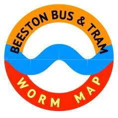 Bus & Tram Worm Map