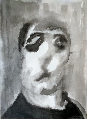 retrato tinta china Benjamin Vilella Amancio