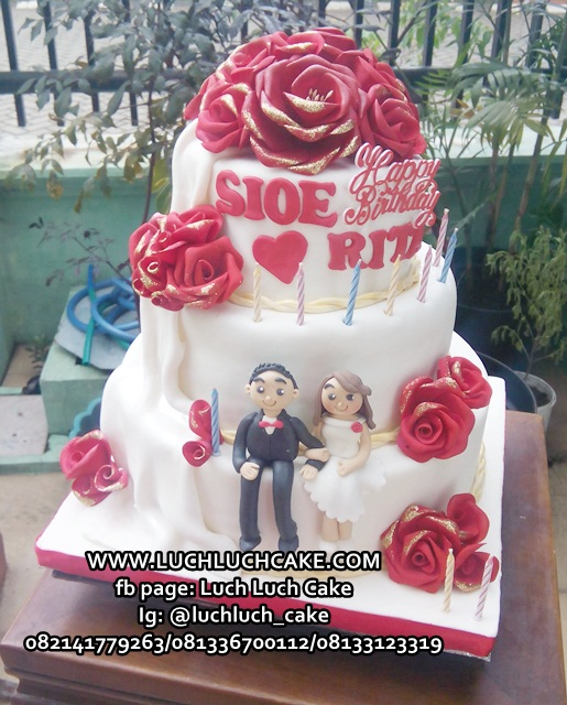 Wedding and Birthday Cake Tingkat 3