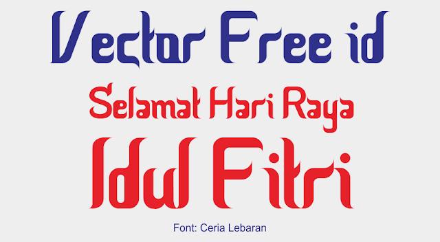 Font Ceria Lebaran