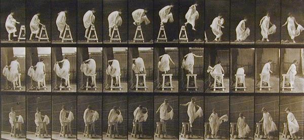 Serie de fotografia del movimiento humano