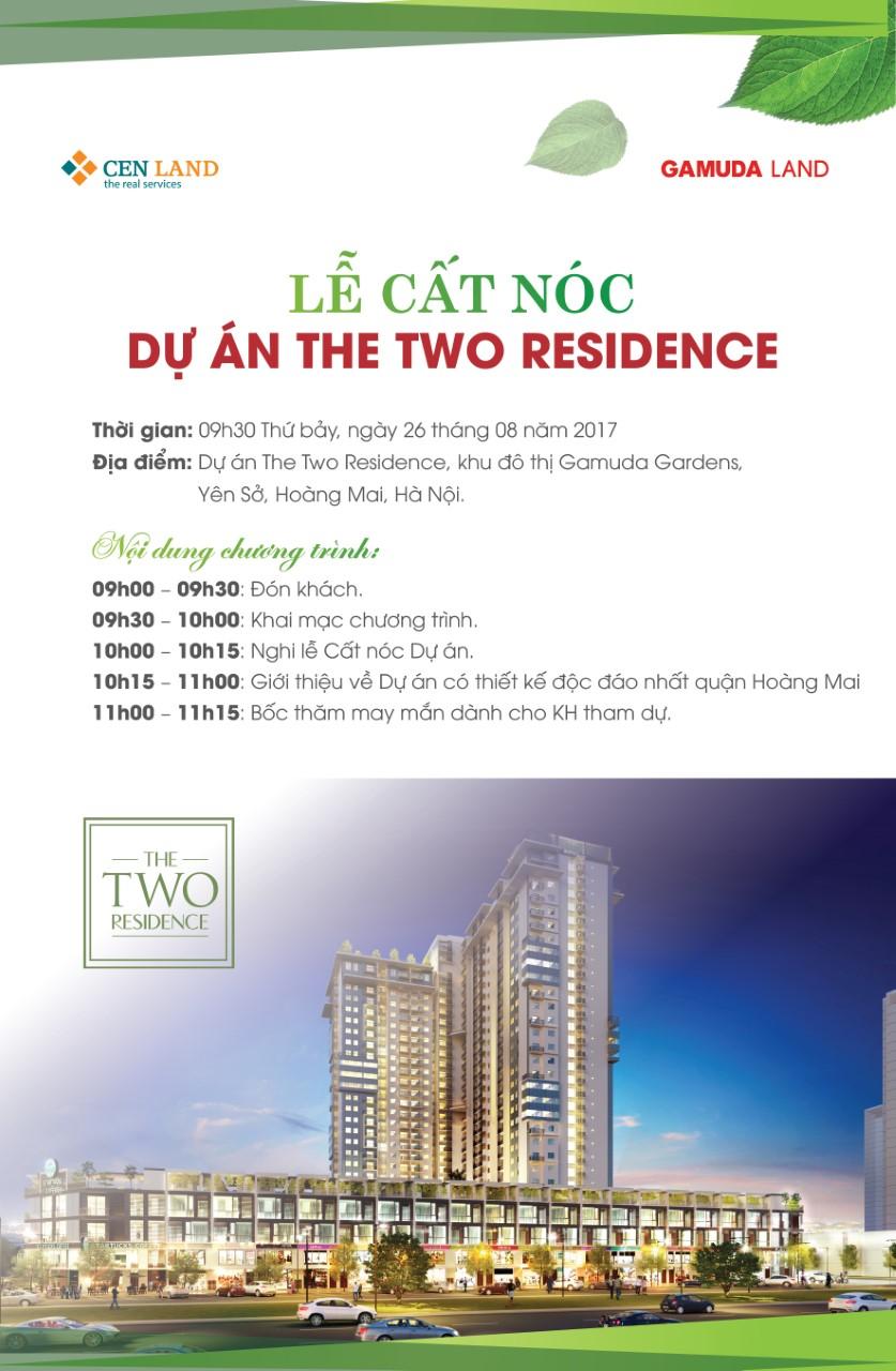 THƯ MỜI THAM GIA LỄ CẤT NÓC CHUNG CƯ THE TWO RESIDENCE