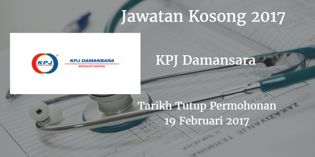 Jawatan Kosong KPJ Damansara 19 Februari 2017