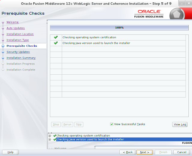 Weblogic Server Installation wizard screen 5