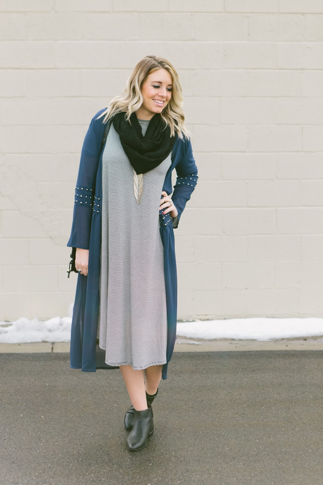 Layers, Striped Dress, Utah Fashion Blogger