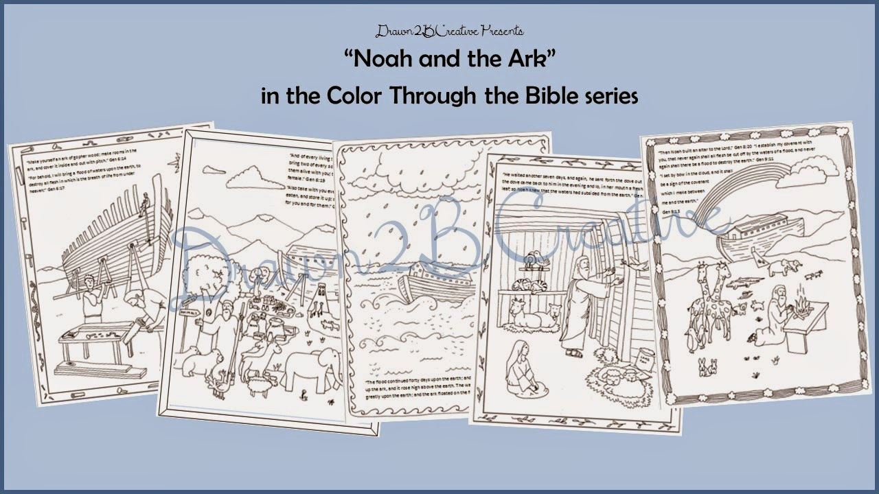 Noah\'s Ark Coloring Pages - Drawn2BCreative