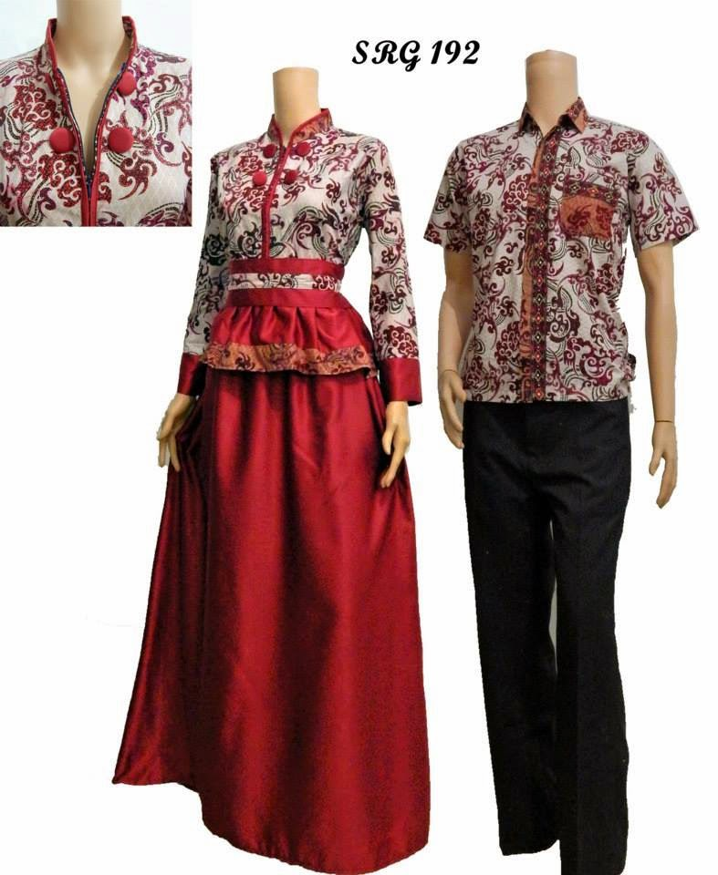 Model Baju Gamis Batik Kombinasi Polos Tattoo Design Bild Model