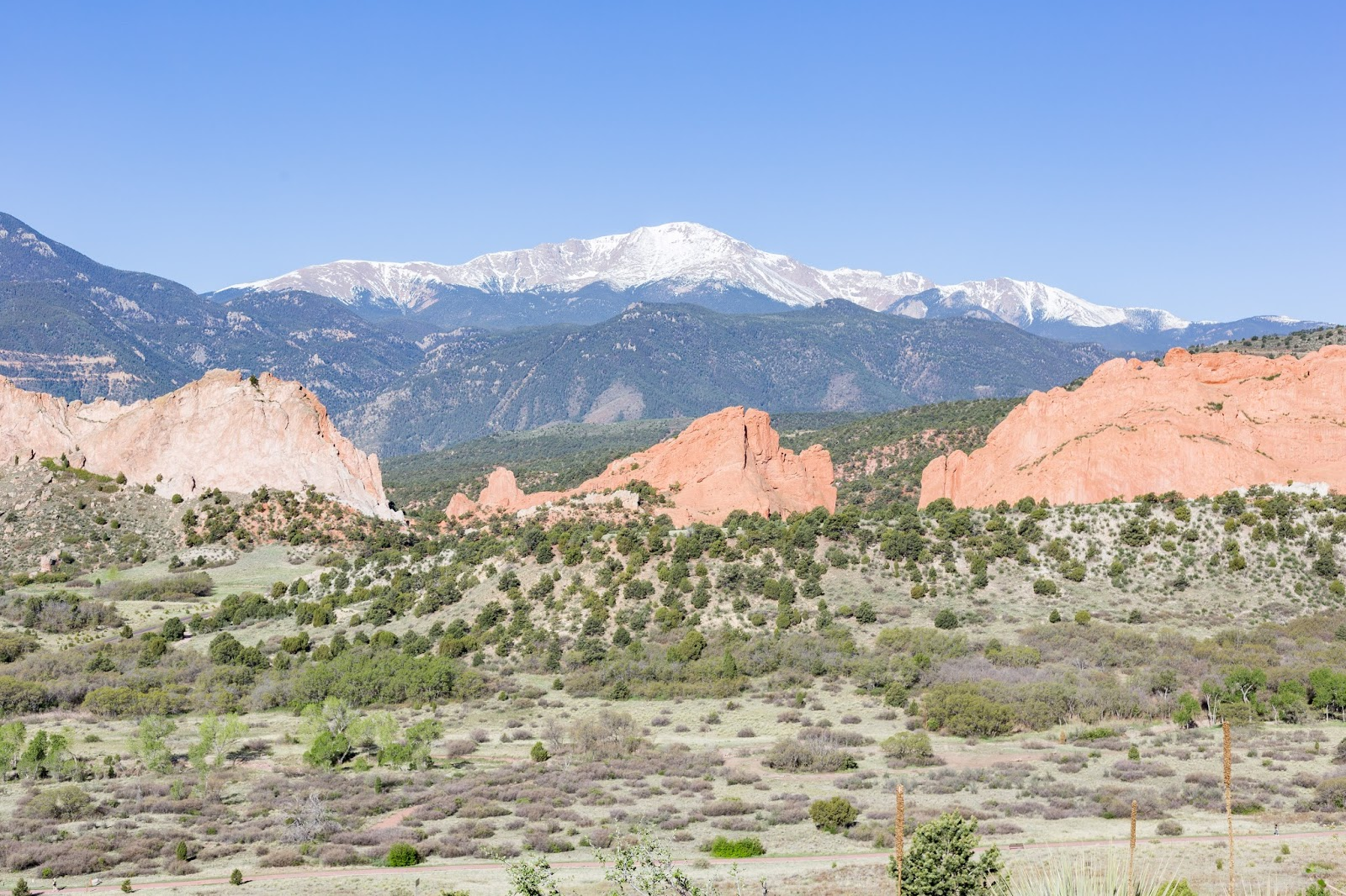 Pikes Peak and Garden of the Gods! View from Garden of the Gods Resort! - Girls Getaway at Garden of the Gods Club by Colorado lifestyle blogger Eat Pray Wear Love