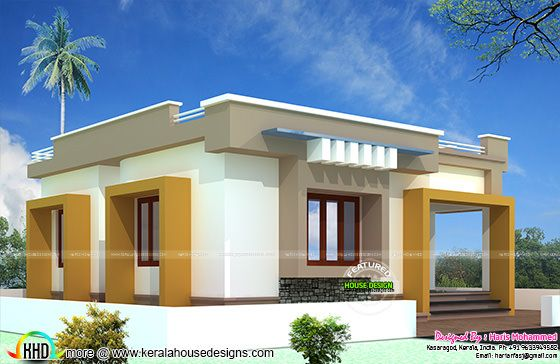 Low Cost 631 Sq Ft Kerala Single Storied Homes: ₹10 Lakhs Budget House Plan