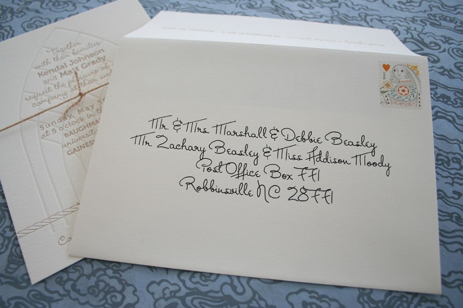 How To Write On Envelope For Wedding Invitations: Red Wedding Invitations