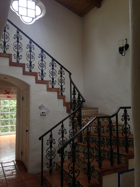 image result for before picture of staircase Malibu Mediterranean Modern Farmhouse Giannetti Home