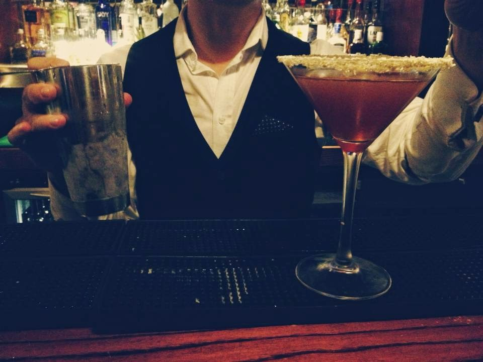 The Filling Station Christmas Preview Event Christmas cocktail