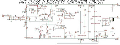HiFi Class-D Discrete Power Amplifier Circuit