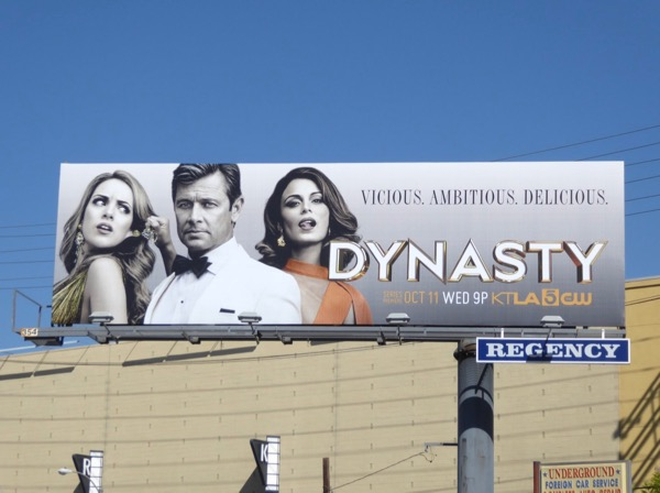 Dynasty series premiere billboard