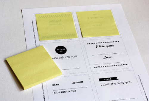 post-it, personalizar, manualidades, diys, anuncios, mensajes