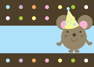 Para hacer invitaciones, tarjetas, marcos de fotos o etiquetas, para imprimir gratis de Ratoncito Bebé.