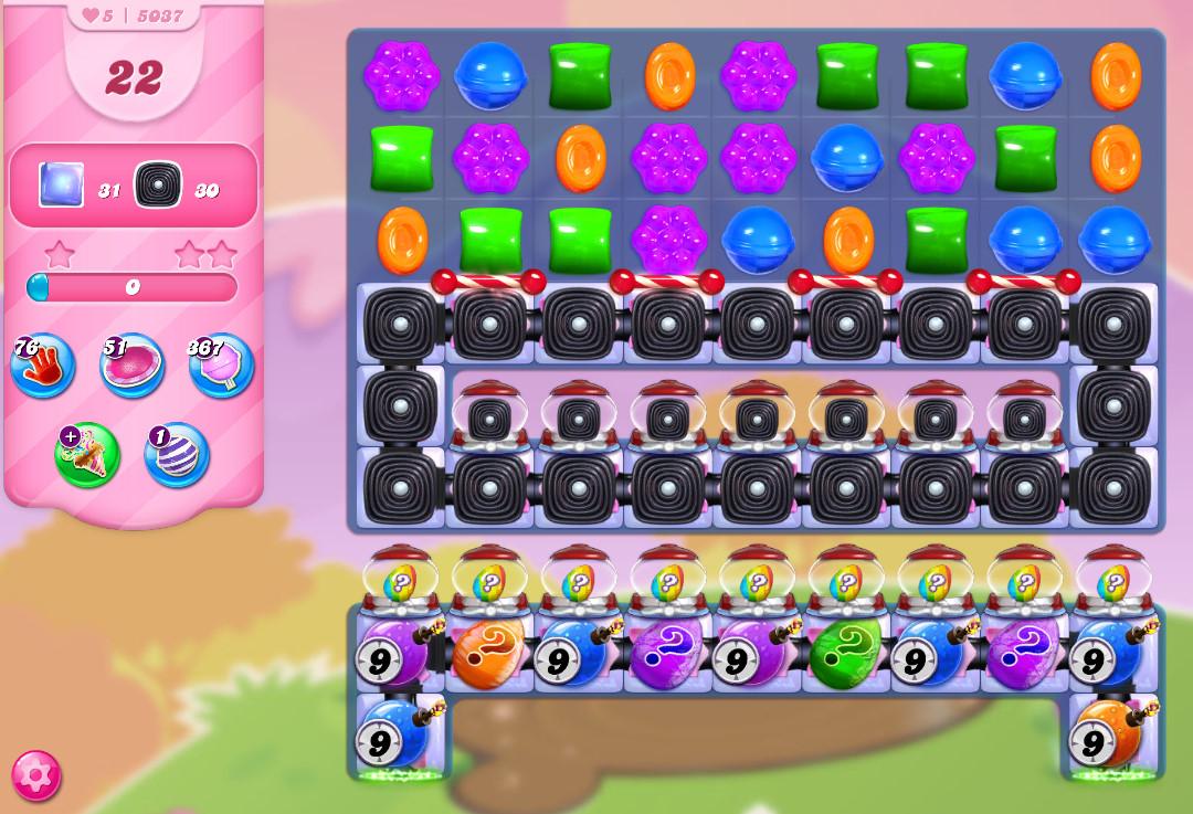 Candy Crush Saga level 5037