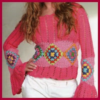 TOP CROCHET CON ESQUEMAS