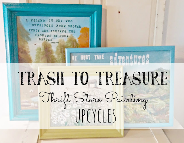 How to upcycled a thrift store painting