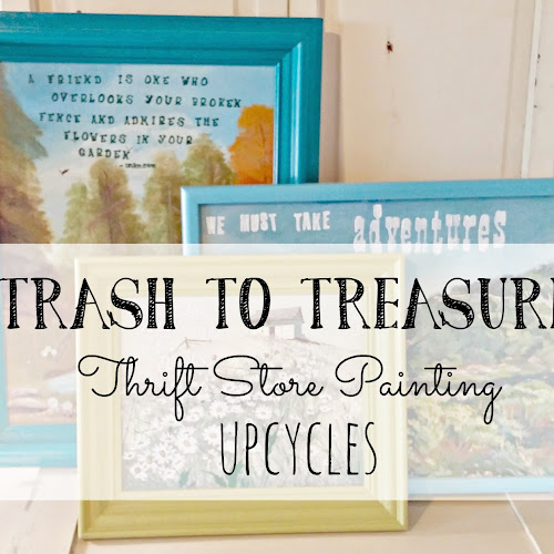 Trash to Treasure - Upcycled Thrift Shop Paintings