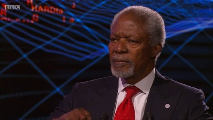 "Watch: ""The world is particularly messy today"" & lacks ""strong leaders"" – Kofi Annan on Global Conflicts"