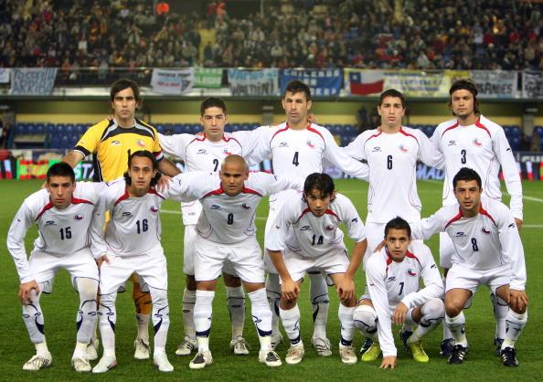 Formación de Chile ante España, amistoso disputado el 19 de noviembre de 2008