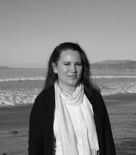 Author Brandy Walker at the beach