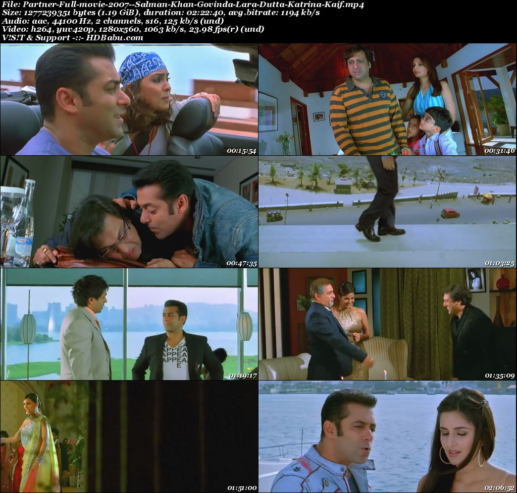 Partner full movie download, Partner Movie Download, Partner 2007 Hindi Movie 720p Full HD MKV MP4 Download, Partner 480p Hindi Full Movie Torrent Download