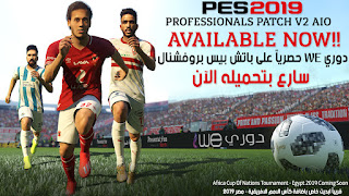 PES 2019 Professionals Patch V2 باتش الدوري المصري