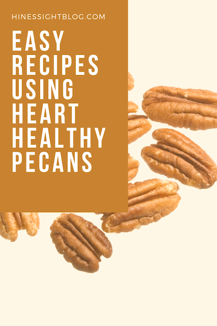 Easy Pecan Recipes you will love and so will your heart. Pecans are heart-healthy, packed with 14 vitamins and minerals and filled with protein. Pecans don't have to be reserved for holiday use. These simple recipes will have you serving pecans all year. April is National Pecan Month.