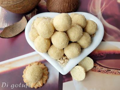 Kuleczki chałwowe z kokosem