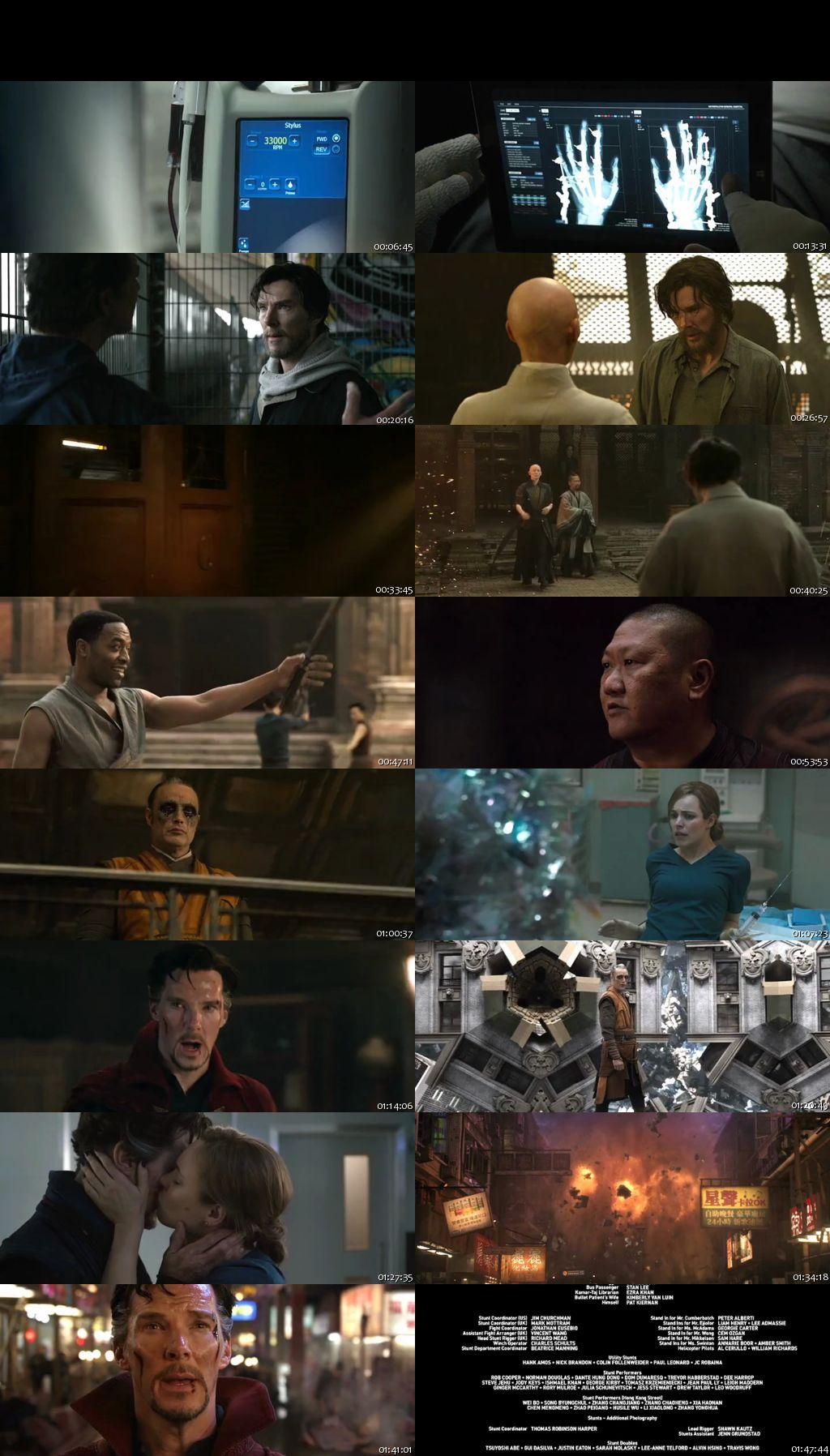Screen Shot Of Doctor Strange 2016 300MB Full Movie Hindi Dubbed Free Download 480P DVDScr Small Size PC Movie