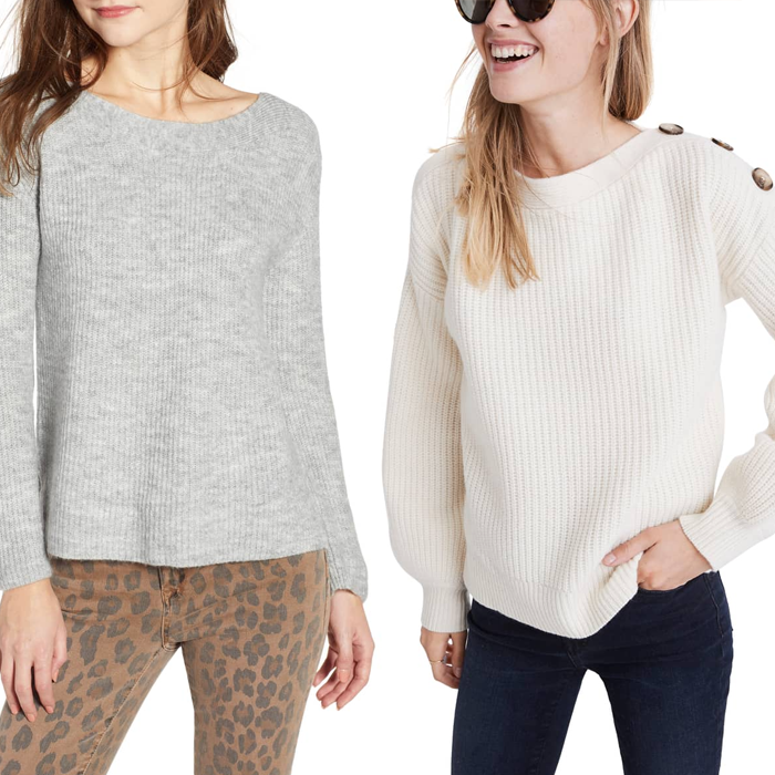 madewell button sweater nordstrom boatneck sweater