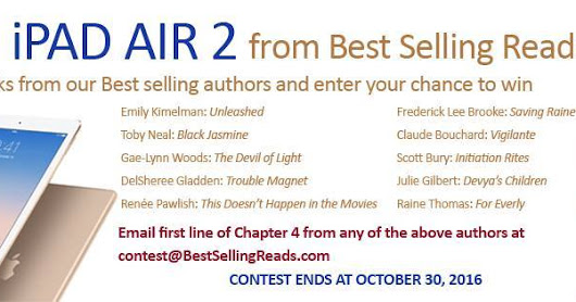 Win an #iPad Air 2 Loaded with @BestSellingRead #Books! #amreading